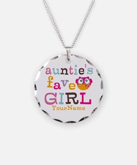 Personalized Aunties Favorite Girl Necklace