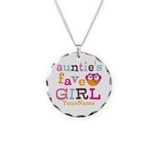 Personalized Aunties Favorite Girl Necklace Circle