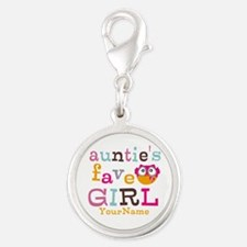 Personalized Aunties Favorite Girl Silver Round Ch