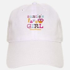Personalized Aunties Favorite Girl Baseball Baseball Cap
