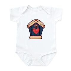 Country Style Birdhouse Design Infant Bodysuit