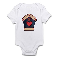 Country Style Birdhouse Design Infant Bodysuit