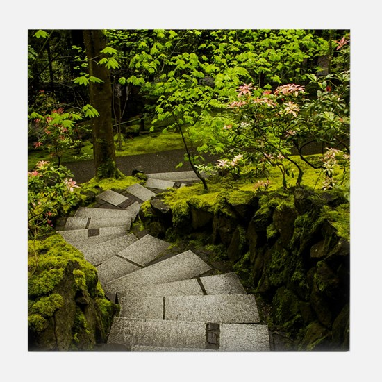 Japanese Gardens Portland, Oregon Tile Coaster