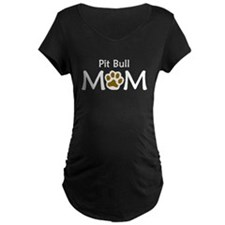 Pit Bull Mom Maternity T-Shirt