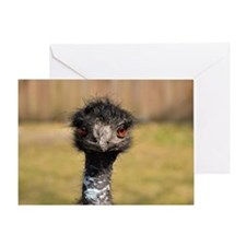 Portrait of an Emu Greeting Card