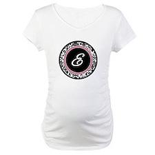 Letter E girly black monogram Shirt