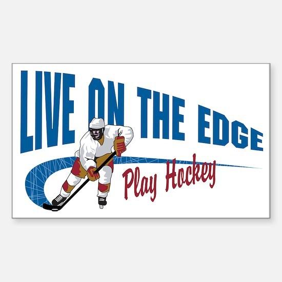 Hockey Player Sticker (Rectangle)