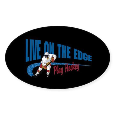 Hockey Player Sticker (Oval)