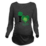 OYOOS Irish Heart design Long Sleeve Maternity T-S