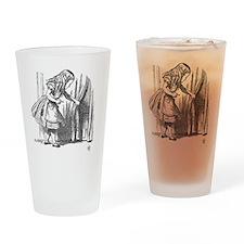Vintage Alice in Wonderland 'lookin Drinking Glass