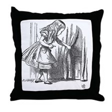 Vintage Alice in Wonderland 'looking  Throw Pillow