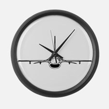 F-16 Fighting Falcon (front) Large Wall Clock