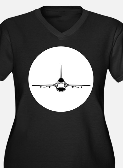 F-16 Fighting Falcon (front) Plus Size T-Shirt