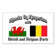 Welsh-Belgian Rectangle Decal