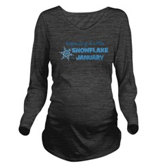 dueinjanuary_snowflakes.png Long Sleeve Maternity