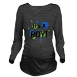 circles_itsaboy_white.png Long Sleeve Maternity T-