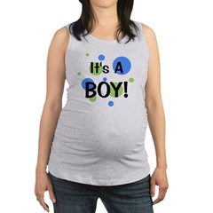 circles_itsaboy_white.png Maternity Tank Top