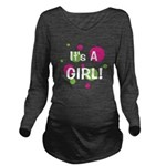circles_itsagirl_white.png Long Sleeve Maternity T