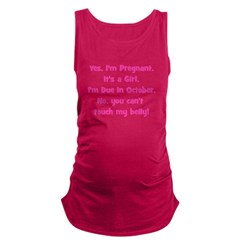 girl_october_belly.png Maternity Tank Top