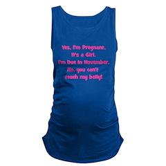 girl_november_belly.png Maternity Tank Top