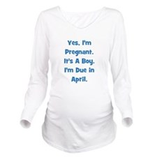 pregnant_boy_april_TR.png Long Sleeve Maternity T-
