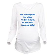 boy_april_belly.png Long Sleeve Maternity T-Shirt