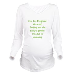 pregnant_january_TR.png Long Sleeve Maternity T-Sh