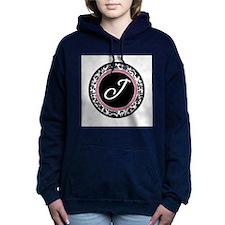 Letter J girly black monogram Hooded Sweatshirt