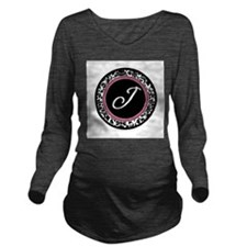 Letter J girly black monogram Long Sleeve Maternit