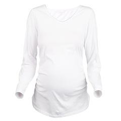 pregnant_may_trans.png Long Sleeve Maternity T-Shi