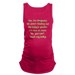surprise_june_belly.png Maternity Tank Top