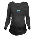 dueinmay_blue_TR.png Long Sleeve Maternity T-Shirt