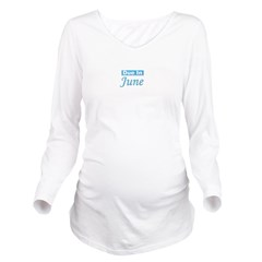dueinjune_blue_TR.png Long Sleeve Maternity T-Shir