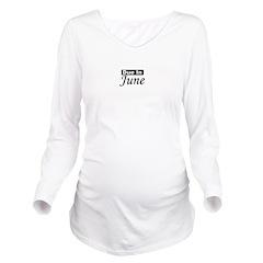 dueinjune_black.png Long Sleeve Maternity T-Shirt