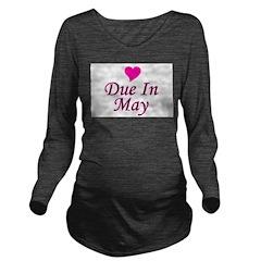 pinkheart_duein_may.png Long Sleeve Maternity T-Sh