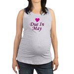 pinkheart_duein_may.png Maternity Tank Top