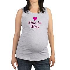 pinkheart_duein_may.png Maternity Tank Top