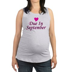 pinkheart_duein_september.png Maternity Tank Top