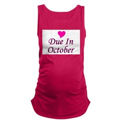 pinkheart_duein_october.png Maternity Tank Top