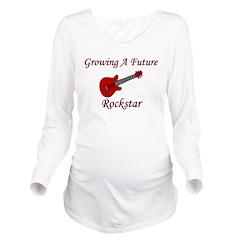 growingafuturerockstar.png Long Sleeve Maternity T