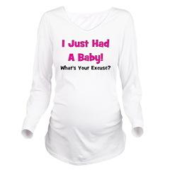 ijusthadababy_whatsyourexcuse_pink.png Long Sleeve