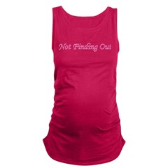2notfindingout.png Maternity Tank Top