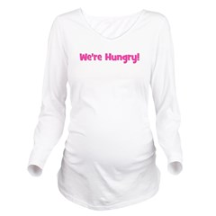 werehungry_pink_TR.png Long Sleeve Maternity T-Shi