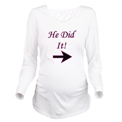 hedidit.png Long Sleeve Maternity T-Shirt