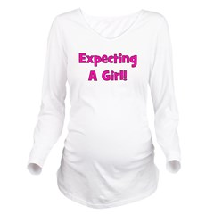 expectingagirl.png Long Sleeve Maternity T-Shirt