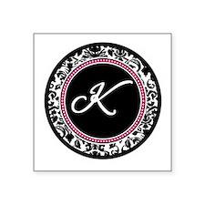 Letter K girly black monogram Sticker