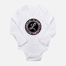Letter L girly black monogram Body Suit