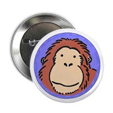 "Cute Monkey Face 2.25"" Button"