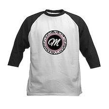 Letter M girly black monogram Baseball Jersey