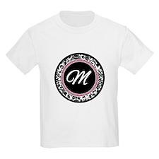 Letter M girly black monogram T-Shirt